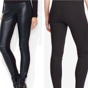 Lauren Ralph Lauren faux leather front legging 16w
